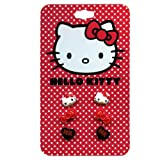 Sanrio Hello Kitty Earrings 3 pair set (1 x Face, 1 X Bow, and 1 Black Heart)