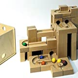 El mármol de madera funcionado con mármol de la pista de la pista de la bola corre en NUEVOS JUEGOS de la caja los 20cm