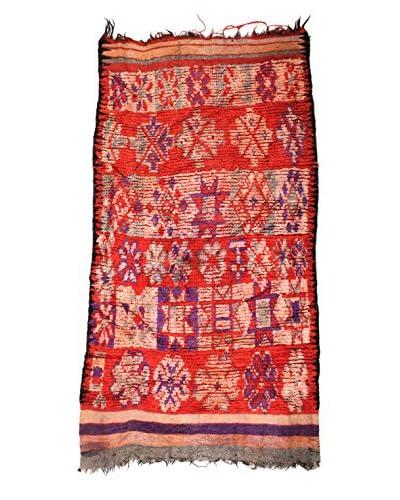 Handmade Rug, Red/Pink/Purple, 4' 2 x 8' 5