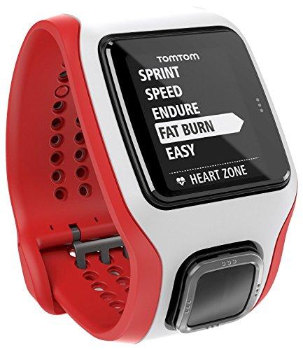 TomTom Runner Cardio Orologio GPS con Cardiofrequenzimetro Integrato, per Corsa Outdoor e Indoor, Rosso/Bianco
