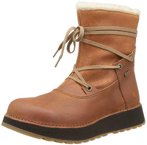 ArtHeathrow 1024 - Stivali da neve, alla caviglia Donna , Marrone (Marrone (Cuero)), 36