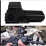 HAWKS 552 Rifle Tactical Sight Red Green Dot Holographic rifle Scope Hunting TelescopeTactical HOLOgraphic Weapon Sight(Red / Green Switch)