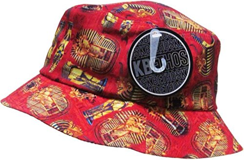 Red Gold Egyptian Pharaoh Bucket Hat (Pharoah Hat)
