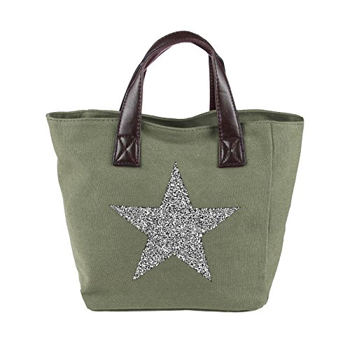 OBC Only-Beautiful-Couture, Borsa a tracolla donna verde militare ca.: 35x24x14 (BxHxT)