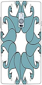 Snoogg flourish bird faces Hard Back Case Cover Shield For Oneplus Two