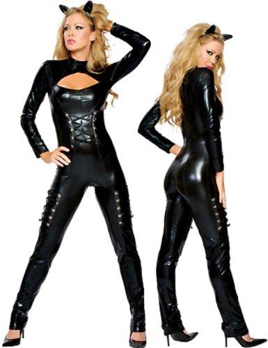 Ladies Sexy Catwoman Superhero Fancy Dress Costume – Size 10-12