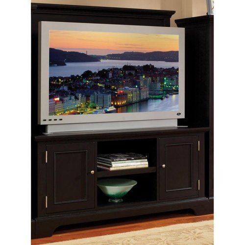 Cheap Home Styles Furniture Bedford Wood TV Stand with Back Panel in Ebony (5531-24)