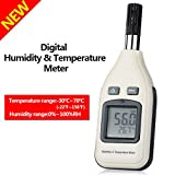 Humidity and Temperature Meter Monitor,GoerTek Digital Psychrometer Hand-held Thermometer Hygrometer for Indoor and Outdoor with Min/Max