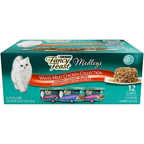 Purina Fancy Feast Wet Cat Food, Elegant Medleys, White Meat Chicken Recipe, 3-Ounce Can, Pack of 12 (Pack of 1) (Fancy Feast Meat compare prices)