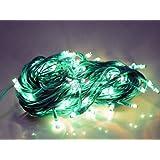 ASCENSION 10 Metre Green Rice Lights Serial Bulb Decoration Light For Diwali Navratra Christmas 1 Piece
