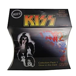 [Best price] Novelty & Gag Toys - Kiss Collectors Pack 1 - Silicone Shaped Bandz (20 Pcs - Glow in the Dark) - toys-games