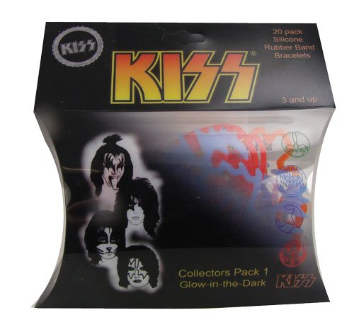 51hoWgtPn8L Cheap Buy  Kiss Collectors Pack 1   Silicone Shaped Bandz (20 Pcs   Glow in the Dark)