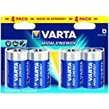 Varta High Energy Batteries D 4 pack