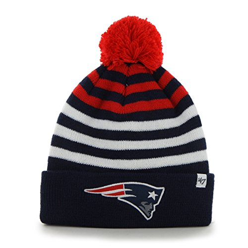 NFL New England Patriots Youth Yipes Cuff Knit with Pom, One Size, Light Navy (Patriots Ball D compare prices)