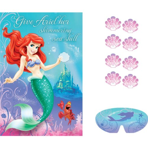Ariel the Little Mermaid Sparkle Party Game Poster (1ct) - 1