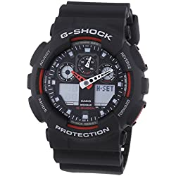 Casio GA-100-1A4ER G-Shock Resin Strap Mens Combi Watch