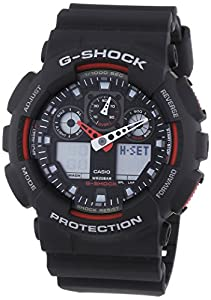 Casio Ga-100-1A4Er Mens G-Shock Combi Display Black Watch