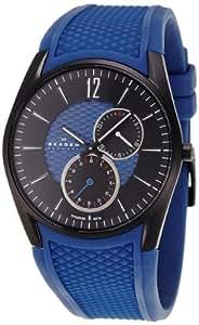 Skagen Herren-Armbanduhr XL Multifunktion Analog Quarz Silikon 435XXLTNRN