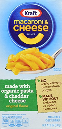 Kraft Mac & Cheese Dinner Made with Organic Pasta & Cheese, Original, 6 Ounce (Pack of 12) (Kraft Macaroni And Cheese Organic compare prices)