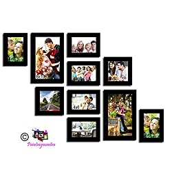 Painting Mantra Varying Black Photo frame collection - Set of 10 individual photo frames (Set of 10)(Clear)