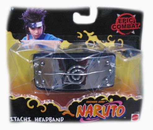 Picture of Mattel Naruto Battle Damage Leaf Headband Figure (B000LY6N4M) (Naruto Action Figures)