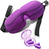 Eye Mask Black or Purple DRIFT TO SLEEP, MOLDEX Ear Plugs The natural sleep aid Patented Sleep mask with adjustable straps and contoured shape Blindfold lets you enjoy restful sleep wherever you are!