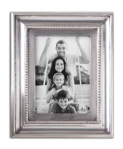 Mud Pie Family Dentil Photo Frame, 5 by 7-Inch - 1
