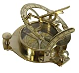 4&quot; Sundial Compass - Solid Brass Sun Dial