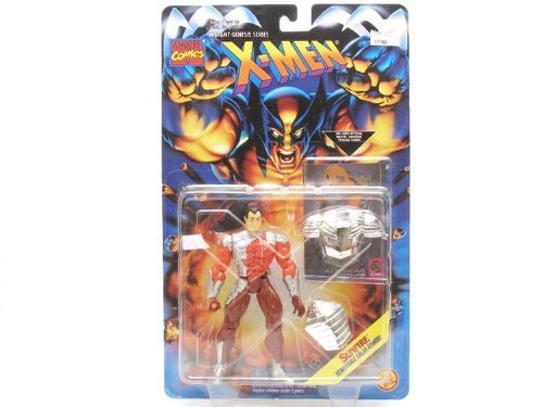 SUNFIRE * Removable Solar Armor * 1995 Marvel Comics X-Men Mutant Genesis Series Action Figure & Marvel Universe Trading Card - 1