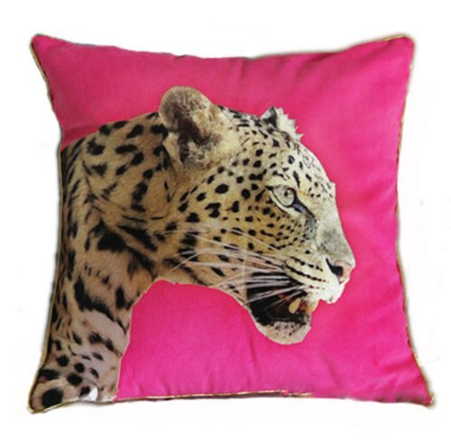Nava Modern Pink Pop Art Desinger Wild Animal Leopard Print Popart Decorative Pillow Case Cushion Cover Shams