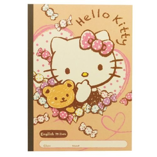 Hello Kitty [notes] English practice book Sanrio kamio Japan stationery anime toy store