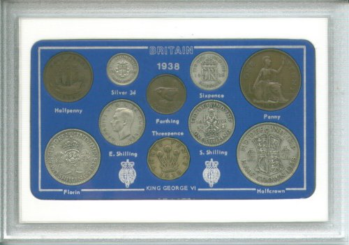 1938 British Coin Birth Year Gift Set (75th Birthday Present or Wedding Anniversary)