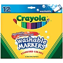 [Best price] Arts & Crafts - Crayola Washable Markers, 12 Markers, Assorted Colors - toys-games