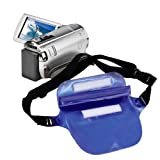 DURAGADGET Deep Blue Waterproof Air Lock Waist Bag / Dry Camcorder case For Panasonic HX-A100,Panasonic HC-X810,Panasonic HC-V510,Sony DEV-50V,Sony NEX-VG900,Sony HDR-PJ420VE