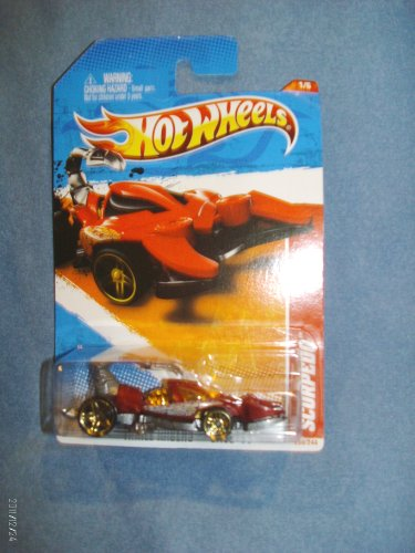 Hot Wheels 2011 # 205 Scorpedo - Thrill Racers # 1 of 6 - Red Scorpedo