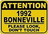 1992 92 PONTIAC BONNEVILLE Please Look Don't Touch Aluminum Caution Sign