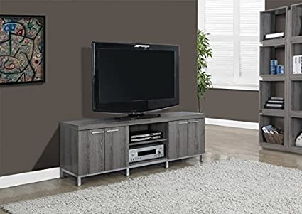 "DARK TAUPE RECLAIMED-LOOK 60""L TV CONSOLE (SIZE: 60L X 16W X 21H)"