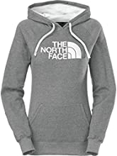 The North Face Women39s Half Dome Hoodie Heather GreyTNF White CG9J LD4