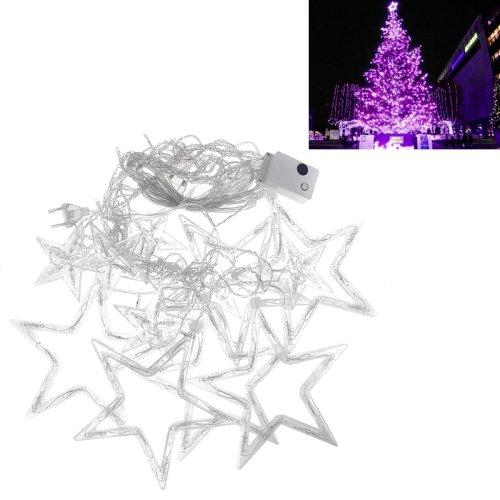 Kx-0042 10W 168-Led Strobe Purple Light Christmas Stars Style Decorative String Light
