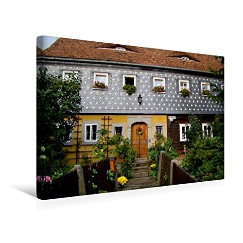 premium textil leinwand 45 cm x 30 cm quer obercunnersdorf wandbild bild auf keilrahmen. Black Bedroom Furniture Sets. Home Design Ideas