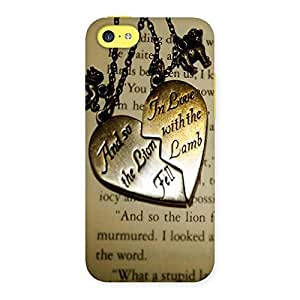 Ajay Enterprises Locket Of Heart on Paper Back Case Cover for iPhone 5C