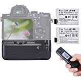 Neewer Wireless Remote LCD Display BG-E8 Replacement Battery Grip + 2PCS Rechargeable Replacement LP-E8 Li-ion Battery 7.4V 1350mAh + Battery Grip Holder For AA Battery And LP-E8 Battery For Canon EOS 550D 600D 650D 700D Digital Rebel T2i T3i T4i