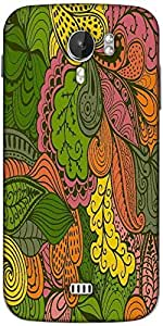 Snoogg vector abstract texture with abstract flowers endless background ethnic Designer Protective Back Case Cover For Micromax A116