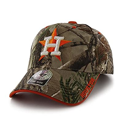 MLB Houston Astros Realtree Frost '47 MVP Adjustable Hat, Realtree Camouflage, One Size,Realtree Camouflage
