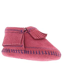Minnetonka Infant-Girls\' Riley Moccasin Booties Hot Pink 1 M US