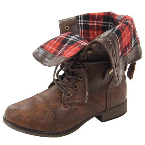 Popular  Boots With Big Size Girls Invisible Heel Combat Boots With Ribbons