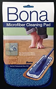 Three Bona®MicroPlus Starfiber Flat Pads for 4x15 Mop