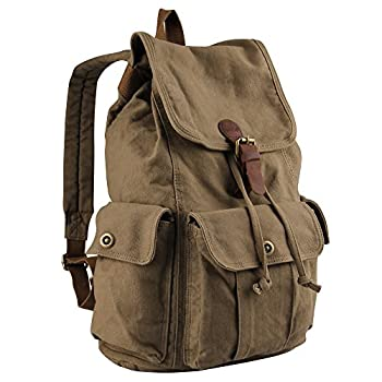Hynes Eagle Retro Designer Canvas Backpack 28 Liter