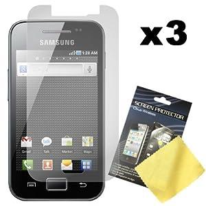 PrimaCase - Pack de 3 - Film de Protection d'écran / écran protecteur pour Samsung Galaxy Ace S5830 / S5830i