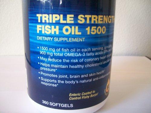 Gnc triple strength fish oil 1500 360 ea health for Gnc triple strength fish oil 1500